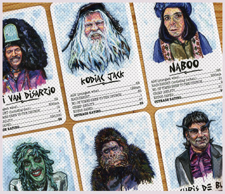 THE MIGHTY BOOSH / 'OUTRAGE' CARDS